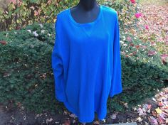 NWT WOMAN WITHIN PLUS SIZE SCOOP NECK TUNIC TOP BLOUSE BLUE 3X #WomanWithin #ButtonDownShirt #Casual