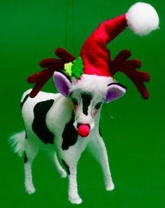 Annalee Christmas Ornament Cow Dressed as Rudolph the Red-Nosed Reindeer by Annalee Dolls Inc., http://www.amazon.com/dp/B008Y1DQ3K/ref=cm_sw_r_pi_dp_rsVlqb034SSS1