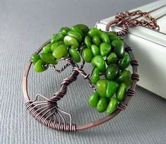 Tree Of Life Pendant Wire Wrapped Pendant by PolymerPlayin on Etsy, $30.00