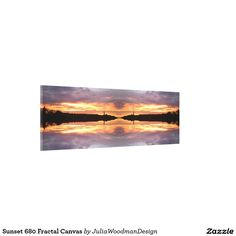 Sunset 680 Fractal Canvas Stretched Canvas Prints