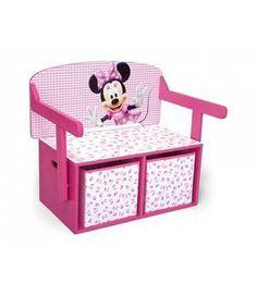 Banco juguetero 3 en 1 Minnie Disney. De madera. Delta Chldren TB84865MN