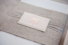 Oh So Beautiful Paper: Kate + Cleon's Romantic Rose Gold Foil Wedding Invitations