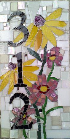 Mosaic House Numbers and signs by mosaic artist Cynthia Fisher - BIGBANGMOSAICS