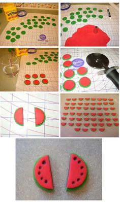step by step fondant watermelon