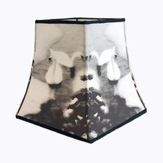 Bell fabric lampshade handmade 7x11x11.50 H. by Gingerartlamps