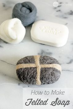 Like soap and a washcloth all in one - felted soap is not only simple to make and economical....it's good for your skin and makes a unique handmade gift!