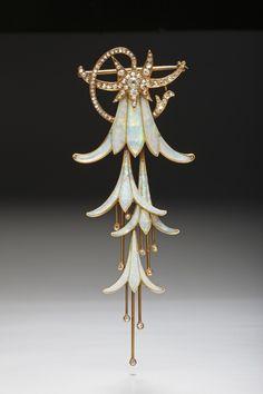 Georges Fouquet, fuchsia brooch - 1902 - Paris - Art Nouveau Jewelry - La Belle Époque - Art Nouveau