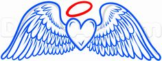 How to Draw Angel Wings Tattoo, Step by Step, Tattoos, Pop Culture ...