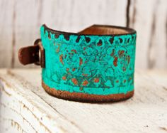 Southwest Jewelry Leather Bracelet Turquoise Accessories For Women Southwestern Fashion