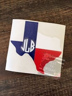 Texas State Flag Decal | Monogrammed Texas Flag | Texas Car Decal | Texas Flag…