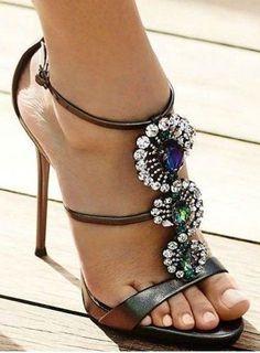 #summer #trending #shoes | Jewelled Heels