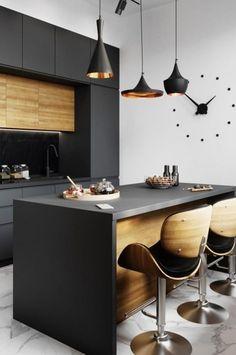 Luxury Kitchens, Modern Kitchen Design, Kitchen Furniture, Sweet Home, Loft, Interior Design, Architecture, Table, House