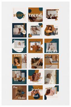 Instagram Feed Ideas Posts, Instagram Feed Layout, Feeds Instagram, Instagram Grid, Instagram Post Template, Instagram Design, Ig Feed Ideas, Mise En Page Portfolio, Web Design