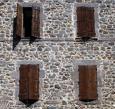 Shutters in Agde, Languedoc-Roussillon_ South France