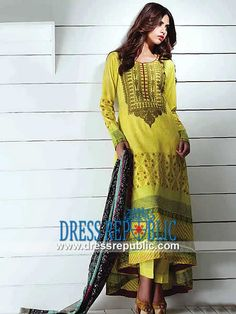 Deeba Shariq Textile Mid Summer Dresses Collection  2014 Collection of Deeba Printed Cotton Outfits for Eid. Availbale on Dressrepublic! by www.dressrepublic.com