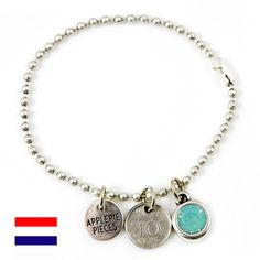 Lucky coin Nederland armband from Applepiepieces #applepiepieces #bluemonday