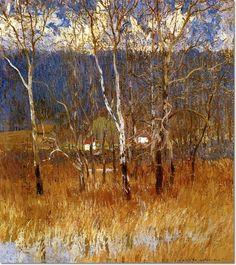 daniel garber paintings | Daniel Garber - March Day, 1913 by Daniel Garber | Painting