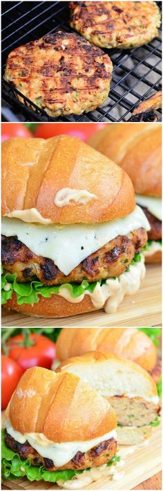 Spicy Chipotle Chicken Burger. Wonderful, flavorful, juicy burger perfect for weekend barbecuing or a weeknight dinner. #burger #chicken
