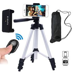 Eyexplo Phone Camera Tripod for iPhone 42 Inch Extendable Aluminum Tripod Stand with Bluetooth Wireless Remote Shutter and Universal Smartphone Holder MountAluminum Silver * Want additional info? Click on the image.