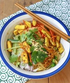 Rice Noodle Salad with Spicy Lemongrass Dressing by gena