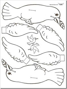 Dove with olive branch craft Sunday School Projects, Sunday School Activities, Bible Activities, Sunday School Lessons, Bible Study Crafts, Bible Crafts For Kids, Vbs Crafts, Bible Coloring Pages, Coloring Books