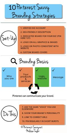 "First read this chart, Branding your Business on Pinterest. Second, purchase Melissa Taylor's book ""Pinterest Savvy: How I Got 1 Million+ Followers (Strategies, Plans, and Tips, to Grow Your Business with Pinterest)"" Third, implement."
