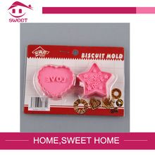 2015 heart star shape high quality christmas baking decoration food grade plastic cake cookie biscuit mold cutter tools set(China (Mainland))
