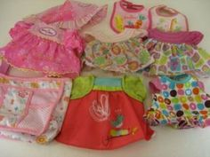 Lot Of Baby Alive Doll Clothes Bibs