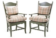 Vintage Painted Armchairs, Pair | Fine & Fun Furniture & Accents | One Kings Lane