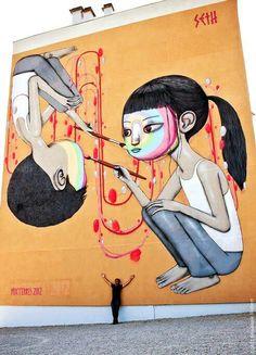 Street art by Julien Malland aka Seth Globepainter, Blois, France