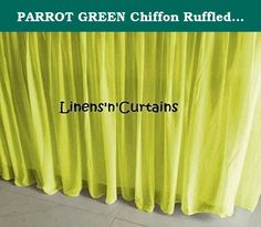 PARROT GREEN Chiffon Ruffled Lined Crib Skirt in any color 12 inch drop - Standard /mini size. PARROT GREEN Chiffon Ruffled Lined Crib Skirt / Mini Crib Skirt in any drop length. Its 4 sided crib skirt. Do you want matching pillow cover, duvet cover, curtain, valance? Do you want custom size bedding, write to me.