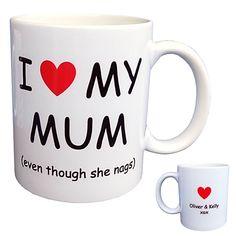 Personalised I Love My Mum Coffee Mug