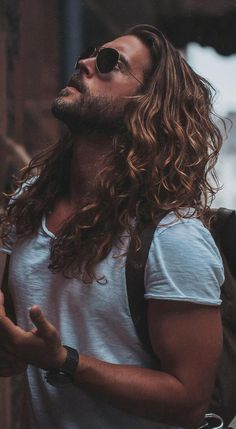 Some Sexy Looks For Men – Long Hairstyles Ponytail Hairstyles for Men Long Curly Hair Men Long Straight Hair with Beard, Long Hairstyles for Men, Long Hair Beard, Long Hair Cuts, Man With Long Hair, Long Curly Hair Men, Cool Hairstyles For Men, Haircuts For Men, Male Long Hairstyles, Haircut Men, Hipster Hairstyles