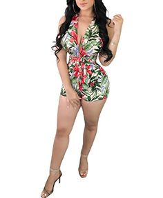 Cromoncent Women Hoodie Casual Tie Dyed Backless Sleeveless Tie Jumpsuit Romper
