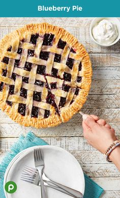 Transform your fresh blueberries into a scrumptious pie. Grab your rolling pin and bake this delicious Publix Aprons recipe.