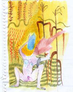 Otoño Este dibujo esta viajando desde Argentina hasta el reino de Barhein para abrazar a Ana / Mariela Nussembaum 2015