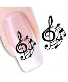 Musical Note Pattern Nail Art Stickers