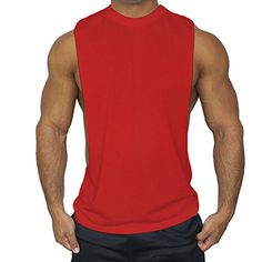 516cc062855fa8 Muscleguys Mens Casual Loose Fitness Tank Tops For Male Summer Open side  Sleeveless Active Muscle Shirts Vest Undershirts