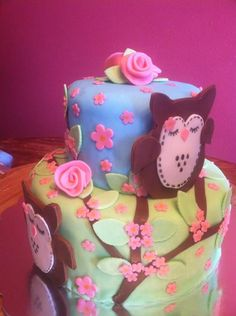 Made this for a friends baby shower. Owl theme.