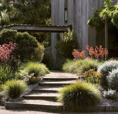 Effective use of grass gives a soft touch.