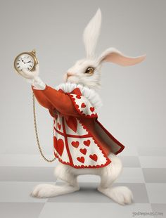 Rabbit by Gediminas Pranckevicius in Alice in Wonderland: 80+ Impressive Artworks