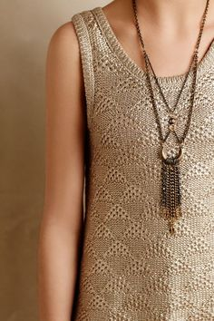 Sana Foiled Tank - anthropologie.com
