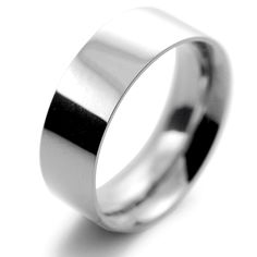 Platinum Wedding Rings Flat Court Heavy -  8mm