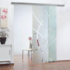 Soft Stop Siebdruck Glasschiebetür Glas Schiebetür 1025x2050mm BM21025GE4 |  Küche | Pinterest