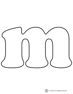 lowercase bubble letter m