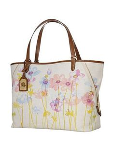 Lauren Ralph Lauren Bolton Large Floral Print Expandable Tote Bag Ralph  Lauren Handbags, Leather Luggage 3e871a190a