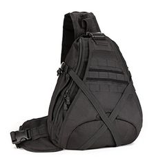 SUNVP Tactical Military Sling Chest Pack Bag Molle Daypack Laptop Backpack Large Shoulder Bag Crossbody Duty Gear For Hunting Camping Trekking * More info could be found at the image url. (This is an affiliate link and I receive a commission for the sales)