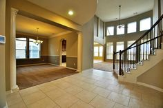 LOVE how open and bright this house is! With all the big windows and large walkways!