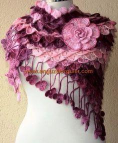 Brasil Tricô & Crochê - Orders made by hand - Encomendas feitas a mão.: xales