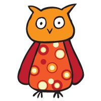 Oliver Owl, a colorful and trustworthy friend to temporarily ta2 to yourself!